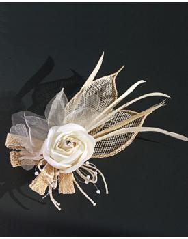 Сватбена украса за коса с роза