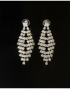 Дамски обеци с блестящи кристалчета