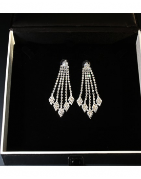 Дамски обеци с кристали