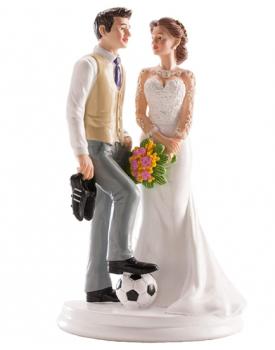 ФУТБОЛИСТ фигурка за сватбена торта 18 см