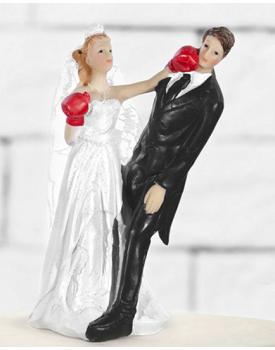 Сватбена фигурка за торта БУЛКАТА БОКСЬОР