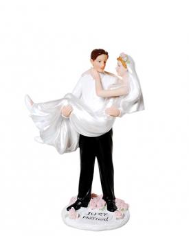 """Сватбена фигурка за торта """"Just Married"""""""
