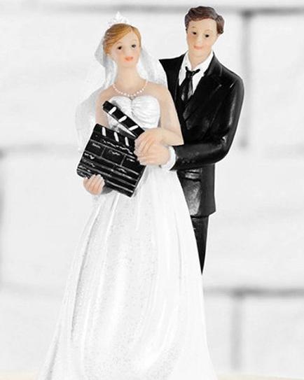 """Сватбена фигурка за торта """"Живот като на филм"""""""