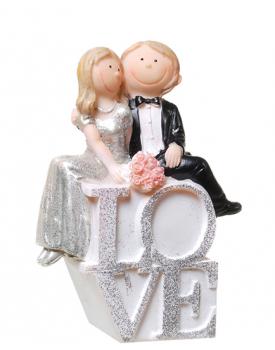 Сватбена фигурка за торта Love