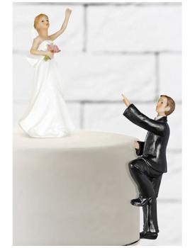 """Сватбена фигурка за торта """"Ела ме вземи"""""""