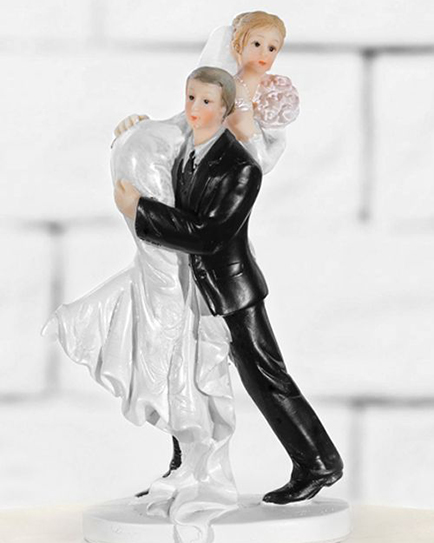 """Сватбена фигурка за торта """"Хайде да се женим"""""""