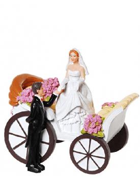 Сватбена фигурка за торта Каляска