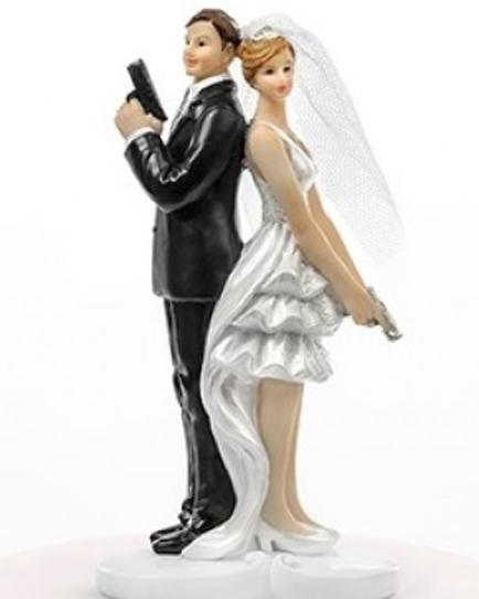 """Сватбена фигурка за торта """"Джеймс Бонд"""""""