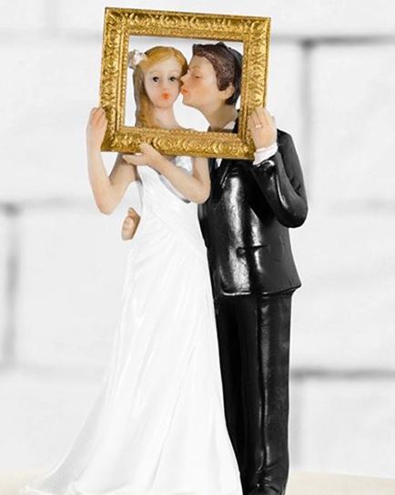 """Сватбена фигурка за торта """"Сватбена снимка"""""""