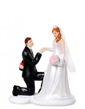 """Сватбена фигурка за торта """"Ще станеш ли моя жена"""""""