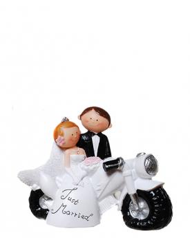 "Сватбена фигурка за торта ""Забавни младоженци"" Just Married"