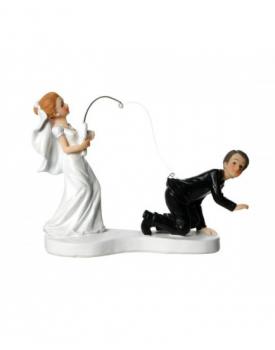 "Сватбена фигурка за торта ""Забавни младоженци"""
