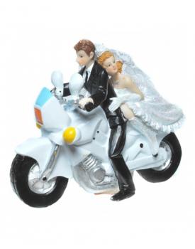 "Сватбена фигурка за торта ""Младоженци рокери"""