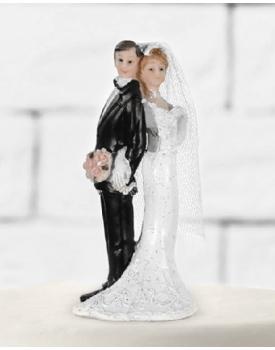 Закачливи младоженци забавна фигурка за торта