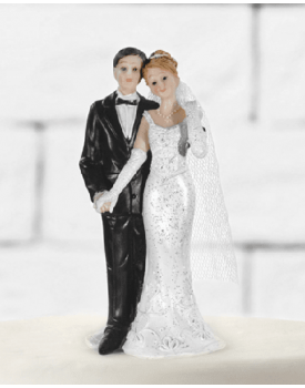 Бъди до мен сватбена фигурка за торта