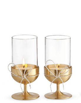 Комплект позлатени свещници Vera Wang Love Knots Gold