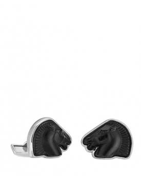 Копчета за ръкавели Lalique Cheval Mascottes Black