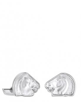 Копчета за ръкавели Lalique Cheval Mascottes Clear