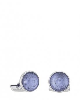 Копчета за ръкавели Lalique Toupie Sapphire Blue