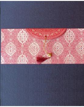 Плик за пари с червен пискюл