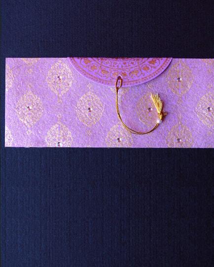 Плик за пари сребриста декорация