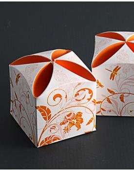 Кутийка за сватбено подаръче в оранжево