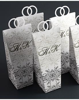Кутийка за сватбено подаръче с дръжки халки