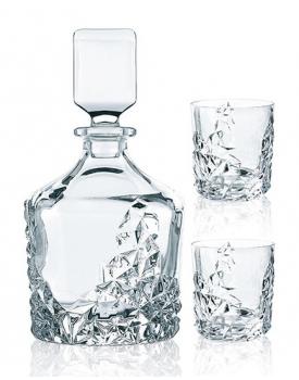 Кристален комплект за уиски Sculpture