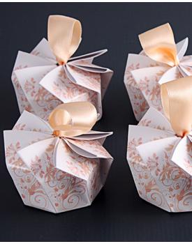 Сватбена покана кутийка с панделка
