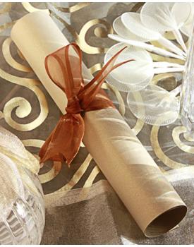 Сватбена покана свитък с едностранен печат