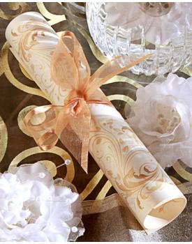 Сватбена покана свитък с красива панделка