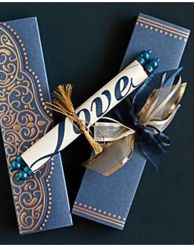 Луксозна сватбена покана Love
