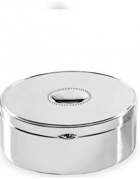Луксозна кръгла посребрена кутийка