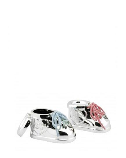 Посребрен комплект кутийки за зъбче и кичурче коса Обувки