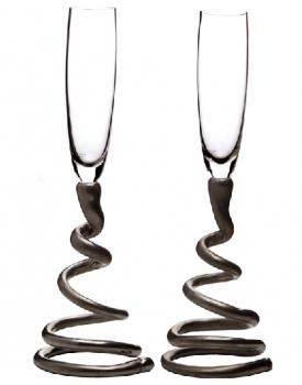 Сватбени чаши с платинено столче