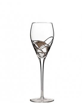 Сватбен бокал Gold Swirl Red Wine ръчна изработка