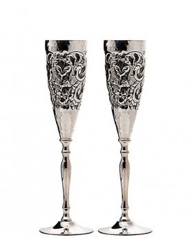 Сватбени чаши посребрени, ръчна изработка