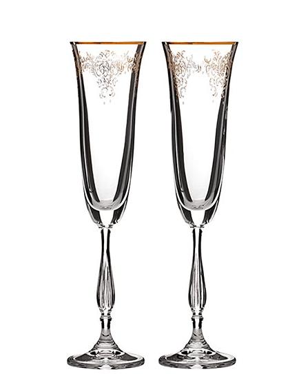 Сватбени чаши с дантела Antic