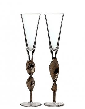Сватбени чаши Platinum Style Toasti ръчна изработка