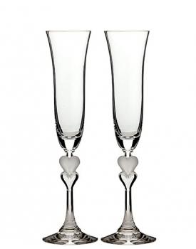 Кристални сватбени чаши Сърца
