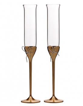 Дизайнерски сватбени чаши Vera Wang Love Knots Gold