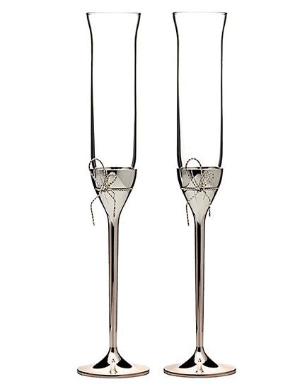 Сватбени чаши Vera Wang Love Knots Silver