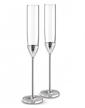 Дизайнерски сватбени чаши Vera Wang With Love Silver